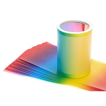 Laternen-Zuschnitte 'Regenbogen', 20 x 52 cm, 25 Stück
