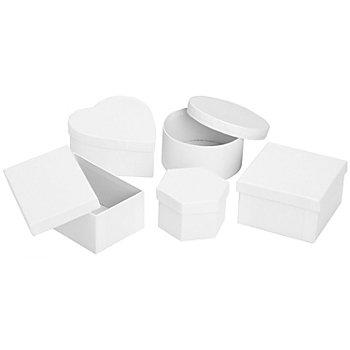 Mini-Schachtel-Set, weiss