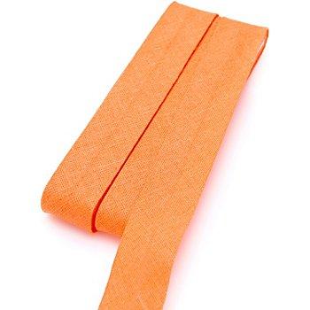 buttinette Baumwoll-Schrägband, hellorange, Breite: 2 cm, Länge: 5 m