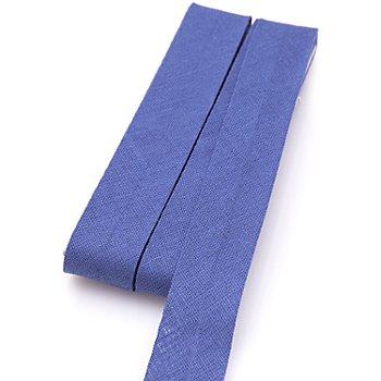 buttinette Baumwoll-Schrägband, jeansblau, Breite: 2 cm, Länge: 5 m