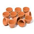 Pots en terre cuite, 4 cm de hauteur, 4,5 cm Ø, 12 pièces