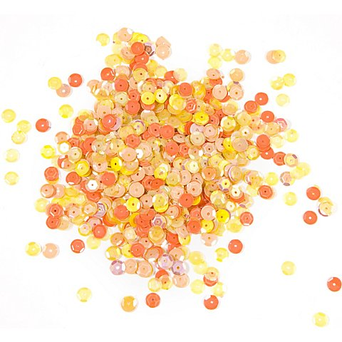 Image of Pailletten, gelb-orange, 6 mm Ø, 30 g