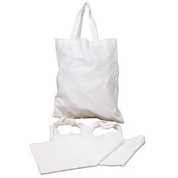 Tragetaschen, weiß, 36 x 40 cm, 3 Stück