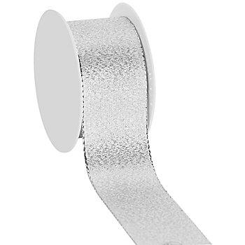 Stoffband, silber, 40 mm, 10 m