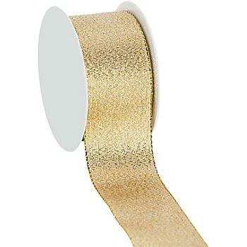 Ruban scintillant, doré, 40 mm, 10 m