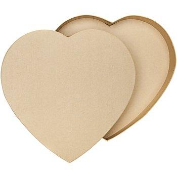 Herzschachtel aus Pappe