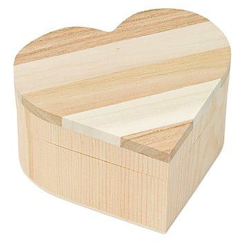 Schatulle 'Herz' aus Holz, 11 x 11 x 5,7 cm