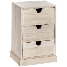 Schränkchen aus Holz, 24 x 16 x 11,5 cm