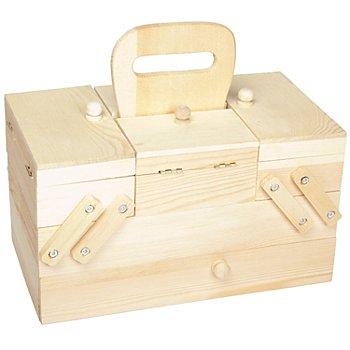 Boîte à couture en bois, 26 x 15 x 15 cm