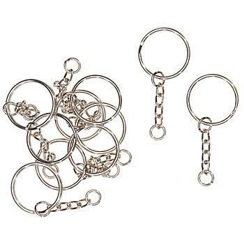 Schlüsselanhänger, 25 mm, 10 Stück