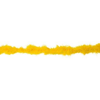 Boa en plumes de marabout, jaune, 2 m