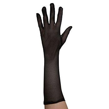 Netz-Handschuhe, 40 cm, schwarz
