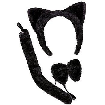 Tier Set 'Katze', schwarz