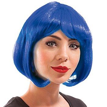 Bob-Perücke, blau