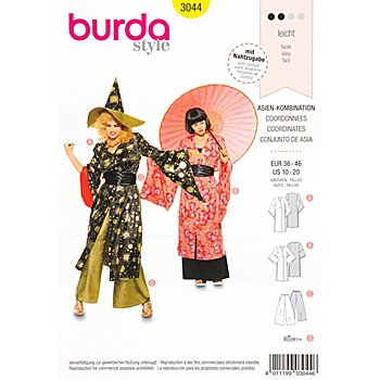 Patron burda 3044 'kimono & geisha'