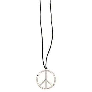Peace Kette, schwarz/silber