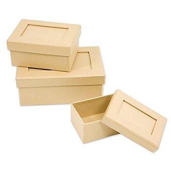 Boîtes rectangulaires, 3 pièces