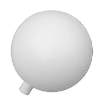 Weiße Kunststoffkugeln, in verschiedenen Größen