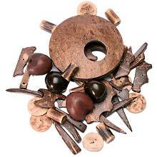 Kokos-Ornamente und -Splitter, 80 g