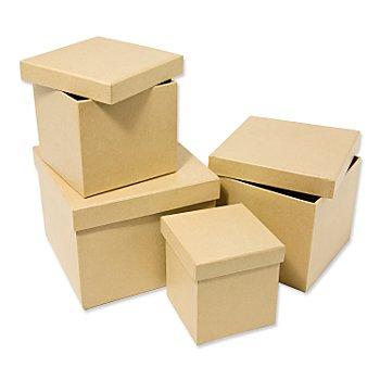 Quadratische Schachteln, 4 Stück