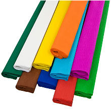 Papier crépon, 50 cm x 2,5 m, 10 couleurs