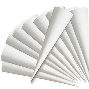 Schultüten-Rohling, grau, 70 cm, 10 Stück