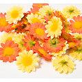 Boutons de fleurs, jaune/orange, 4 cm Ø, 40 pièces