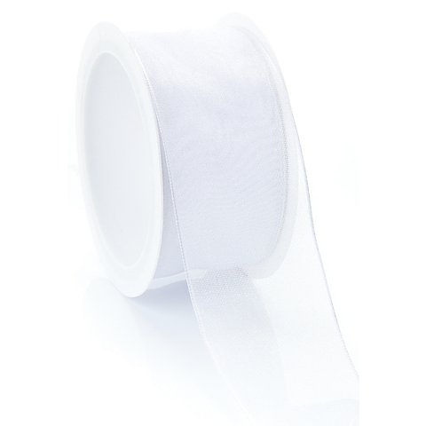 Image of Chiffonband, weiss, 40 mm, 5 m