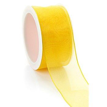 Chiffonband, gelb, 40 mm, 5 m