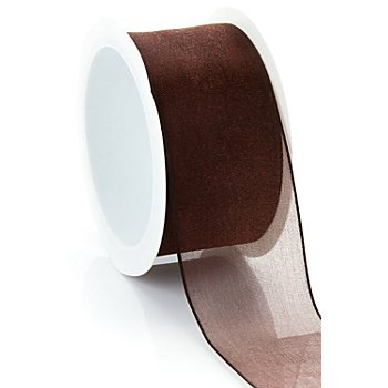 Chiffonband, braun, 40 mm, 5 m