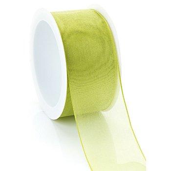 Chiffonband, hellgrün, 40 mm, 5 m