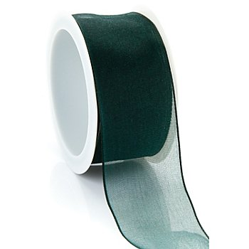 Chiffonband, dunkelgrün, 40 mm, 5 m