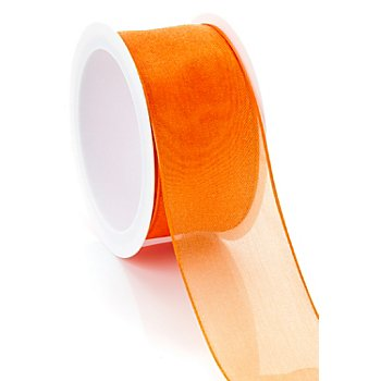 Ruban chiffon, orange, 40 mm, 5 m