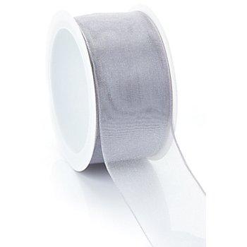 Ruban chiffon, argent, 40 mm, 5 m