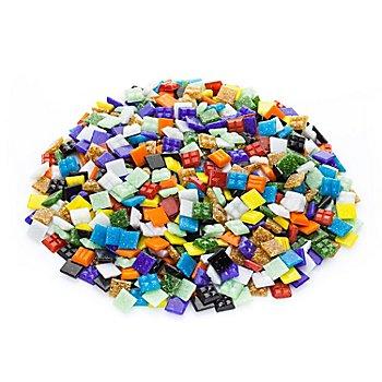 Glas-Mosaik, bunt, 10 x 10 mm, 750 g