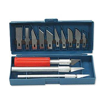 Präzisionsmesser-Set, 3 Messer mit 13 Klingen