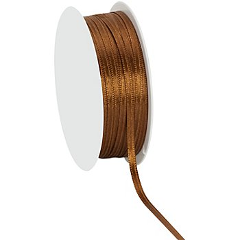 Satinband, braun, 3 mm, 20 m