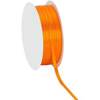 Ruban satin 3 mm, orange, 20 m