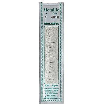 MADEIRA Fil à broder métallisé n°4, argenté