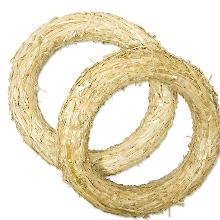 Strohkränze, 35 cm Ø, 2 Stück