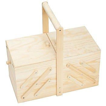 Holz-Nähkästchen, 35 x 18 x 18 cm