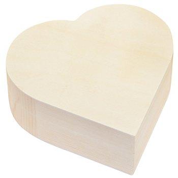 Schatulle 'Herz' aus Holz, 16,5 x 16,5 x 6 cm