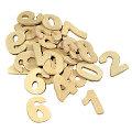 Zahlen aus Holz, 2,5 cm, 40 Stück