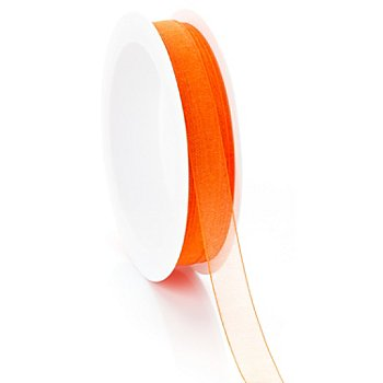 Chiffonband, orange, 10 mm, 10 m