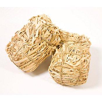 Strohballen, ca. 8 x 6 x 4 cm, 2 Stück