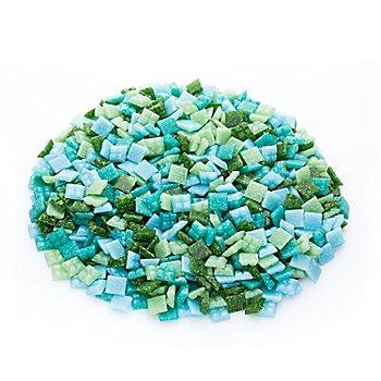 Glas-Mosaik, Grüntöne, 10 x 10 mm, 750 g