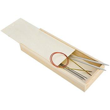Strumpfstricknadel-Box aus Holz