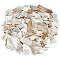 Perlmutt-Mosaik, eckig, 10 x 10 mm, 20 x 20 mm, 100 g