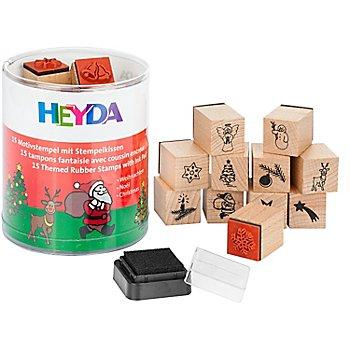 Heyda Stempel-Set 'Weihnachten', 1,5 cm, 15 Stück