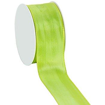 Stoffband mit Drahtkante, hellgrün, 40 mm, 10 m